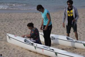 Setting u our Surfski